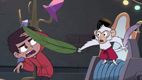 S4E4 Monkey whacking Marco with a leaf