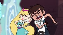S3E8 Star and Marco bump their heads together