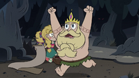 S3E27 King Butterfly running with excitement