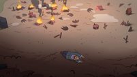 S3E36 Crying villager rolling down the hill