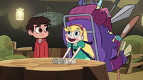 S2E28 Star Butterfly thanks Buff Frog for the map