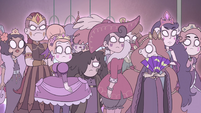 S4E36 Queens of Mewni look at Star Butterfly