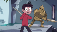 S4E1 Marco looking behind