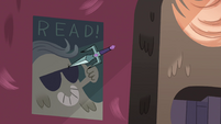 S4E12 Librarian's dagger thrusts into the wall