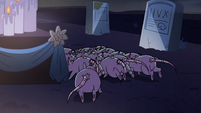 S2E27 Rats scurrying behind Bon Bon's shrine