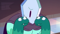 S3E2 Rhombulus tells his snake hands to be quiet