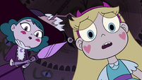 S4E4 Star and Eclipsa looking over Rhombulus