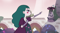 S3E11 Eclipsa Butterfly pointing to the rose tower