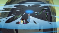 S4E35 Moon releasing magic from the wand