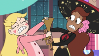 S3E25 Star wrestling trumpet out of trumpet player's hands