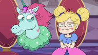 S3E10 Star Butterfly sits down proud of herself