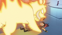 S4E5 Fire demon pins Marco to the ground