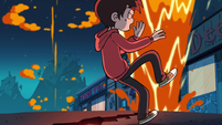 S2E19 Marco Diaz dodging geysers of fire and smoke