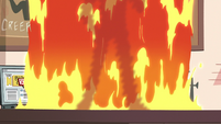 S2E19 Shadowy figure appears in the wall of fire