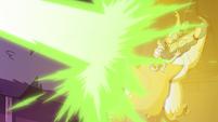 S3E38 Meteora's beams push against Star's barrier