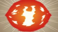 S3E38 Fireball flying toward the screen