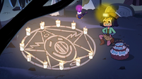 S2E27 Janna makes a summoning circle on the ground