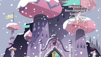 S3E25 Butterfly Castle covered in snow