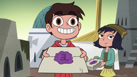 S4E24 Marco Diaz handing out invitations