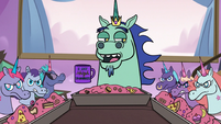 S3E21 King Pony Head tells his daughters to calm down
