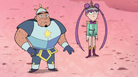 S3E2 Mina and royal guard listening to Queen Moon