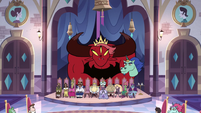 S3E10 Wrathmelior sits behind the other royals