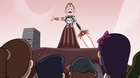 S4E35 Queen Solaria addressing the villagers
