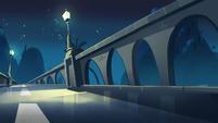 Brittney's Party background - Echo Creek bridge night