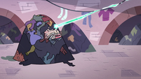 S3E14 Star and Marco rocket into pile of laundry