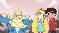 S4E1 King Butterfly shoves the Mewman away