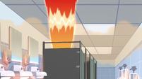 S2E3 Fire flashing in bathroom stall