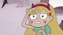 S3E11 Star Butterfly scratching her forehead