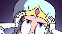 S2E40 Queen Moon putting on a tiara