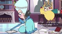 S3E27 Queen Moon picks up papers off the floor