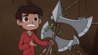 S2E28 Marco Diaz holding axes and spears