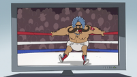 S2E16 Junior Mustache on the ring ropes