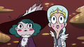 S3E36 Moon and Eclipsa looking at the pigeons