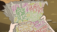 S2E28 Buff Frog's crudely-written letters to Star