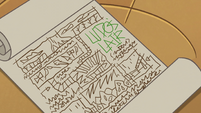 S2E28 Buff Frog's map of Ludo's lair
