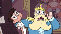 S3E8 King Butterfly calling out to a castle squire