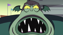 S4E25 Buff Frog threatening Tom Lucitor