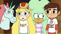 S2E13 Star and friends look unsure at each other