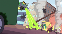 S2E14 Ludo blasts a hole in front of Star