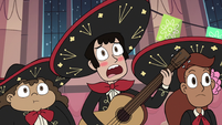 S3E25 Guitar player blushing with embarrassment