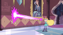 S3E8 Star Butterfly using magic on the castle wall