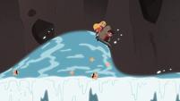 S4E2 Star and Marco riding the tsunami