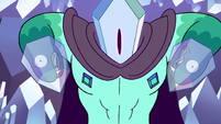 S2E34 Rhombulus pointing at his chest diamonds