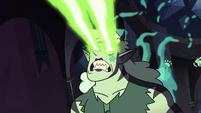 S3E38 Meteora furiously firing her soul beams
