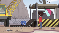 S2E24 Marco and Pony Head see the crushed car