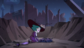 S3E38 Eclipsa kneels in front of Meteora's rags
